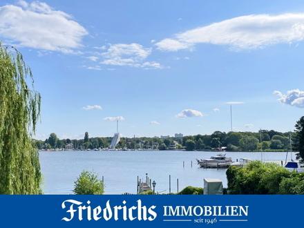Parkähnliches Wassergrundstück mit Bootssteg direkt an der Berliner Havel mit Altbestand