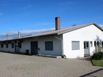 LAYER IMMOBILIEN Große Werkstatt / Lagerhalle mit Büros in Untermeitingen zu mieten