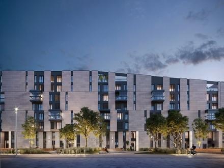 Helle und ruhige 2-Zimmer-Wohnung mit Süd-Balkon und Blick auf den Main