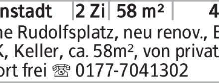 2-Zimmer Mietwohnung in Braunschweig (38118) 58m²