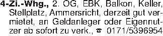 4-Zi.-Whg., 2. OG, EBK, Balkon...