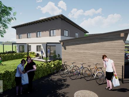 Familienhit: Haushälfte 116 m² Ziegel-Neubau, 2 Carp, Terrasse, mit Garten in Auerbach,nahe Berndorf