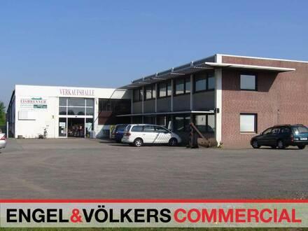 Auf dem Grundstück befinden sich zwei große Lagerhallen (ca. 4.000 m² und...