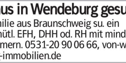 Haus in Wendeburg gesu. Familie aus Braunschweig su. ein gemütl. EFH, DHH...