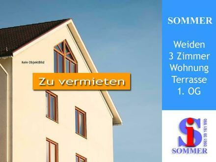 3-Zimmer, Küche, Bad, Dachterrasse - Etagenwohnung Weiden mieten