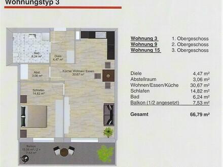 Helle Seniorenwohnung mit Altenheim-Anbindung in Öhringen, zum Erstbezug