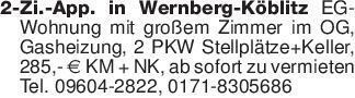 2-Zi.-App. in Wernberg-Köblitz...