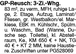 GP-Reusch: 3-Zi.-Whg.