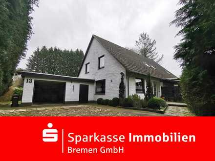 Zweifamilienhaus mit großem Grundstück und Garage in ruhiger Lage von Gnarrenburg