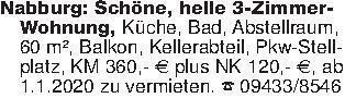 Nabburg: Schöne, helle 3-Zimm...