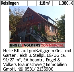 Reislingen 118m² 1.380,-€ Helle Bfl. auf großzügigem Grst. mit Garten,Teich...