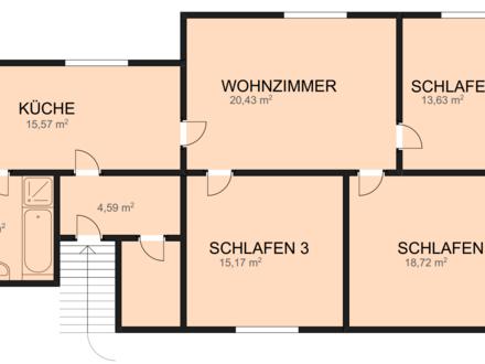 4 ZKB helle DG Wohnung 96 m² in Siegen 57078