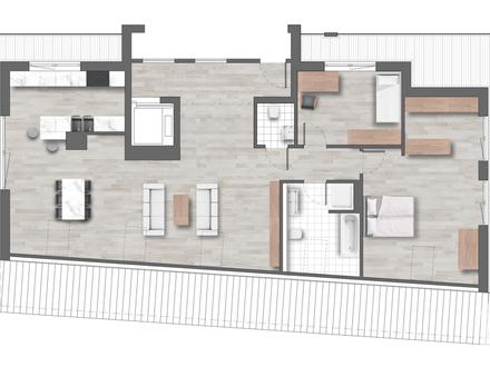 Penthouse mit 154 qm Wohnfläche und 2 Dachterrassen - KFW 55 Standard
