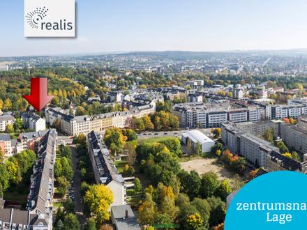 NEU: große Dachgeschosswohnung mit Fahrstuhl, Balkon, Fernblick am Küchwald, Stellplatz mgl.