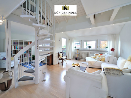 Schicke und außergewöhnliche 4-Zimmer-Galerie-Maisonettewohnung mit Loggia in S-Plieningen