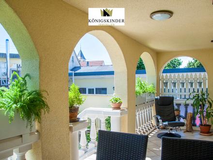 Die perfekte Kapitalanlage! Sonniges, mediterranes Haus m. ELW u. nebenan jede Menge Gewerbeflächen