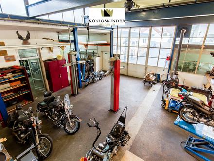 KFZ-Werkstatt, Büro, Arztpraxis, Physiotherapie plus schönes, sonniges Einfamilienhaus + ELW
