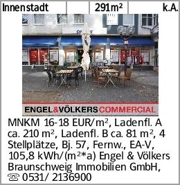 Innenstadt 291m² k.A. MNKM 16-18 EUR/m², Ladenfl. A ca. 210 m², Ladenfl....