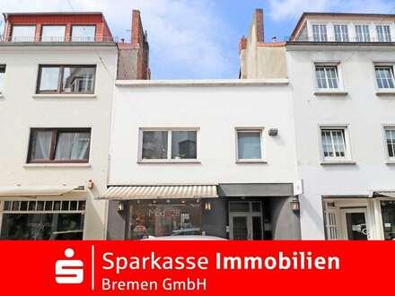 Rarität: 2-Häuser mit 4 exklusiven Wohn- und Geschäftseinheiten in Top-Lage von Bremen–Ostertor
