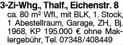 3 Zi Whg. Thalfingen, Eichenstr. 8