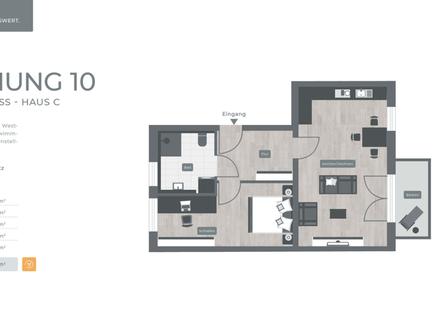 ZENTRAL. GRÜN. LEBENSWERT LANDSHUT 034 Haus C Nr.10 - 1.Obergeschoss 2-Zimmer