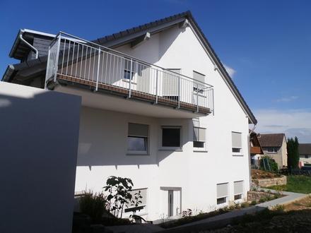 Tolle Doppelhaushälfte: 180 m² Wfl., Garten, Garage und ELW im Neubaugebiet Kiedrich zu vermieten