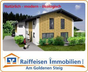 Modernes Einfamilienhaus in gesunder Holzrahmenbauweise bei Waldkirchen