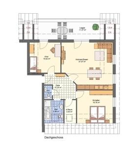 Whg. 6 - Nie mehr Treppensteigen - DG-Lifestyle-Wohnung - Neubau KfW55-Wohnanlage Petershagen