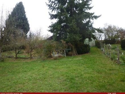 Gartengrundstück mit großem Gartenhaus