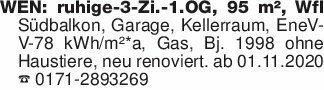 WEN: ruhige-3-Zi.-1.OG, 95 m²,...