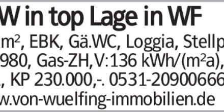 102m², EBK, Gä.WC, Loggia, Stellpl., Bj.1980, Gas-ZH,V:136 kWh/(m²a), Kl:E,...