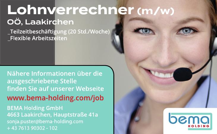 Lohnverrechner (m/w) OÖ, Laakirchen _Teilzeitbeschäftigung (20 Std./Woche) _Flexible Arbeitszeiten