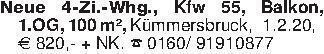 Neue 4-Zi.-Whg., Kfw 55, Balko...