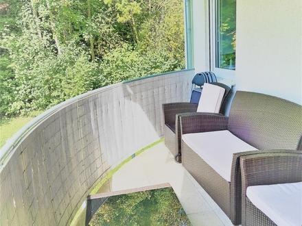 KLEIN* FEIN* IDYLLISCH Singlewohnung vermietet,m.großem Balkon,Keller +Stellplatz in herrlicher Lage