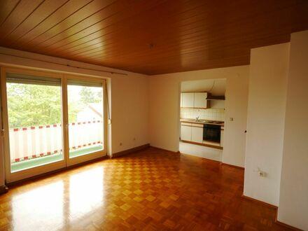 Wohnzimmer mit Balkon und Kochnische