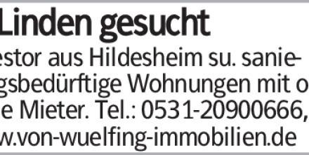 Investor aus Hildesheim su. sanierungsbedürftige Wohnungen mit od. ohne...