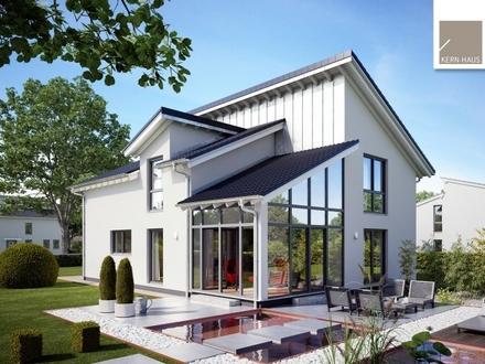 Helles Familienhaus mit außergewöhnlicher Architektur! (inkl. Grundstück)