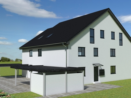 Dachgeschosswohnung mit Balkon im Neubau, KfW-55 Haus, Aufzug, Erdwärme, Lüftungsanlage