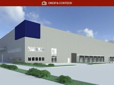 Projektiertes Logistikzentrum an der A 57