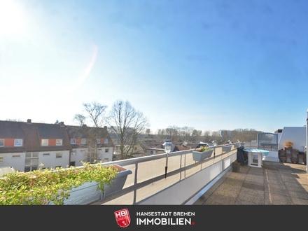 Rablinghausen / Helle 2-Zimmer-Wohnung mit ca. 70m² Dachterrasse