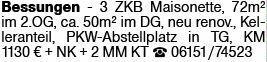 3-Zimmer Mietwohnung in Darmstadt (64285)