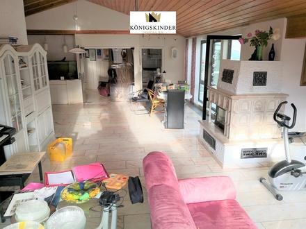 Exclusive 5,5 -Zi.- Wohnung mit offenem Kamin, Wintergarten,Whirlpool, Gästezimmer mit Bad u. Garage