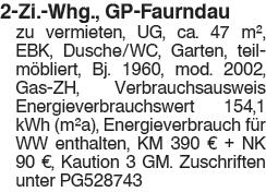 2 Zi. Whg., GP Faurndau