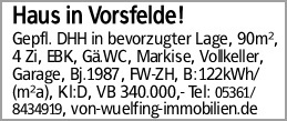 Haus in Vorsfelde!