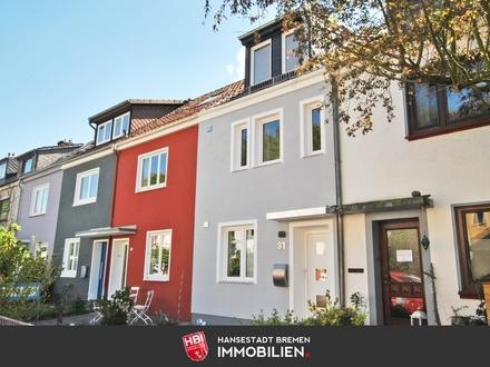 Findorff / Kapitalanlage: Hochwertig saniertes Reihenmittelhaus mit Terrasse und Garten
