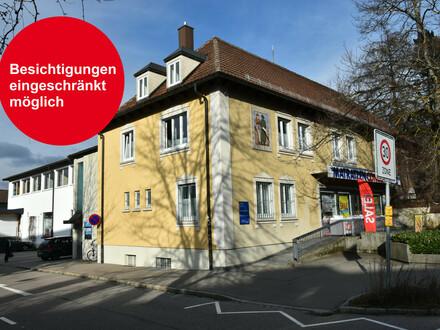Einzelhandel - Büro - Praxis: Große Gewerbeflächen in Top-Lage von Leutkirch zu vermieten.