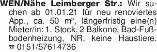 WEN/Nähe Leimberger Str.: Wir...
