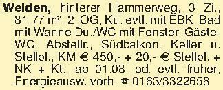 Weiden, hinterer Hammerweg, 3...