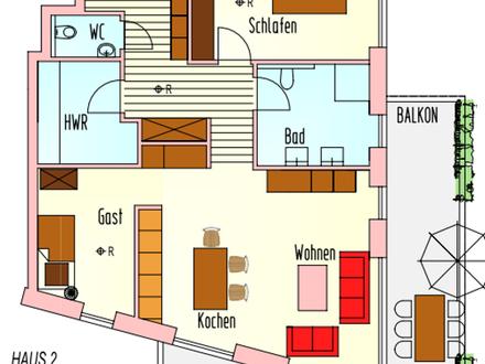 Oberwohnung mit 3 Zi. und großem Balkon sowie elektr. Rollläden, parallel zur Bloherfelder Straße!