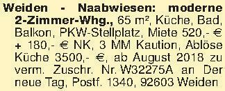 Weiden - Naabwiesen: moderne 2...